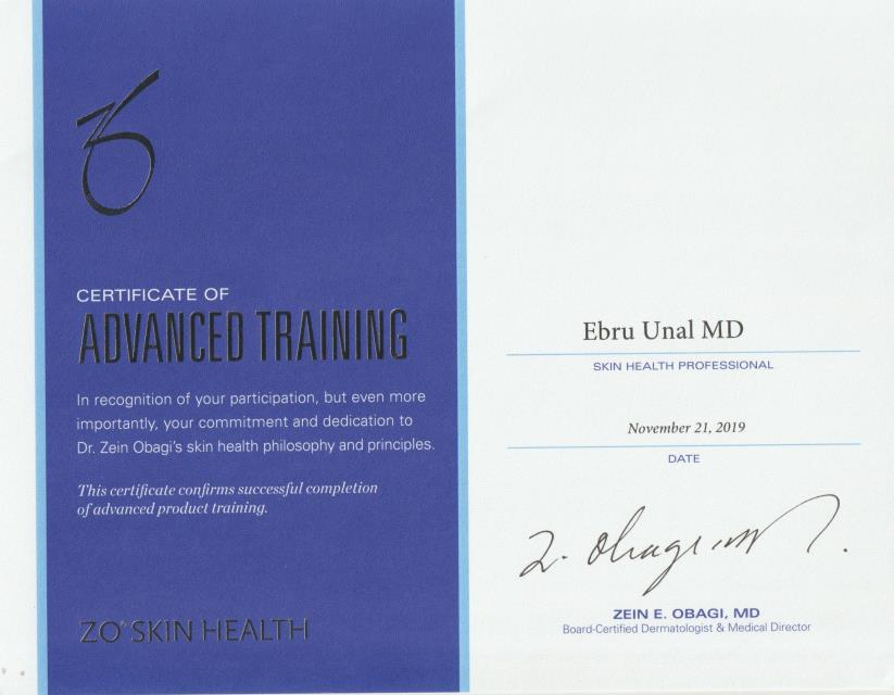 Certivicate of Advanced Training – Skin health Professional