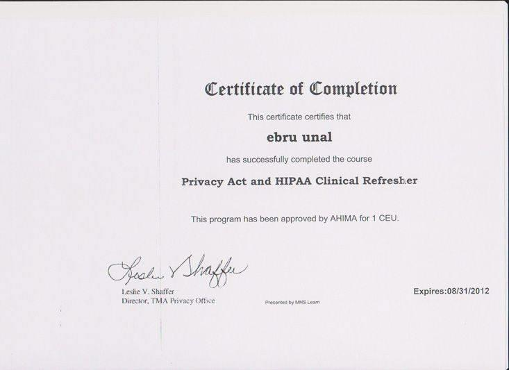 Privacy Act and HIPAA Clinical Refresher 2