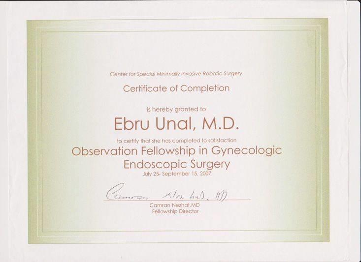 Observation Fellowship in Gynecologic Endoscopic Surgery