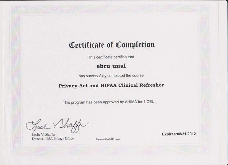 Privacy Act and HIPAA Clinical Refresher 3